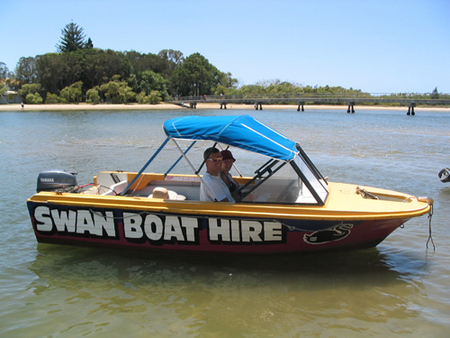 Swan Boat Hire - Surfers Gold Coast