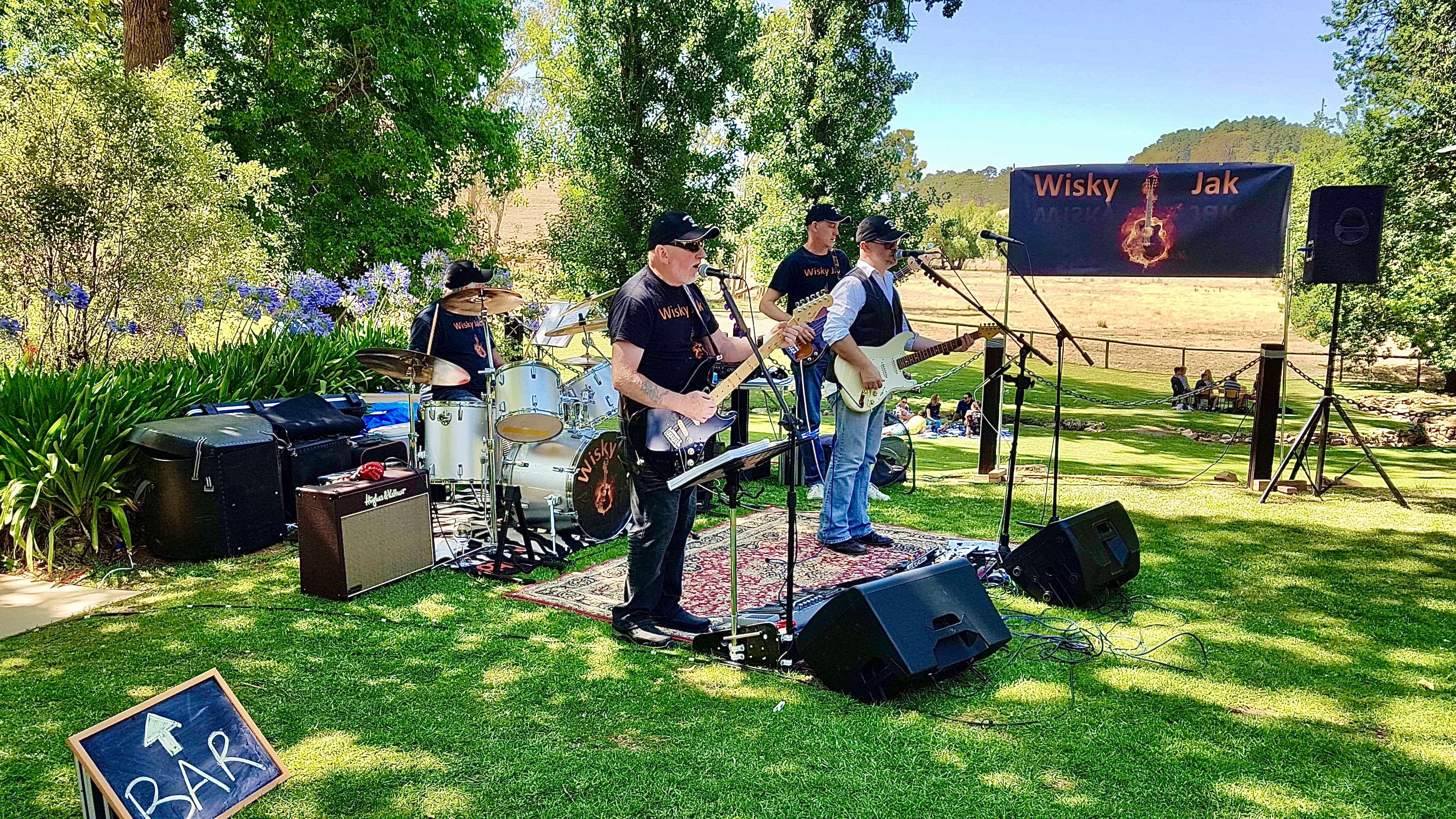 Angas Plains Wines Live in the Vines with the band -Wisky Jak - Surfers Gold Coast