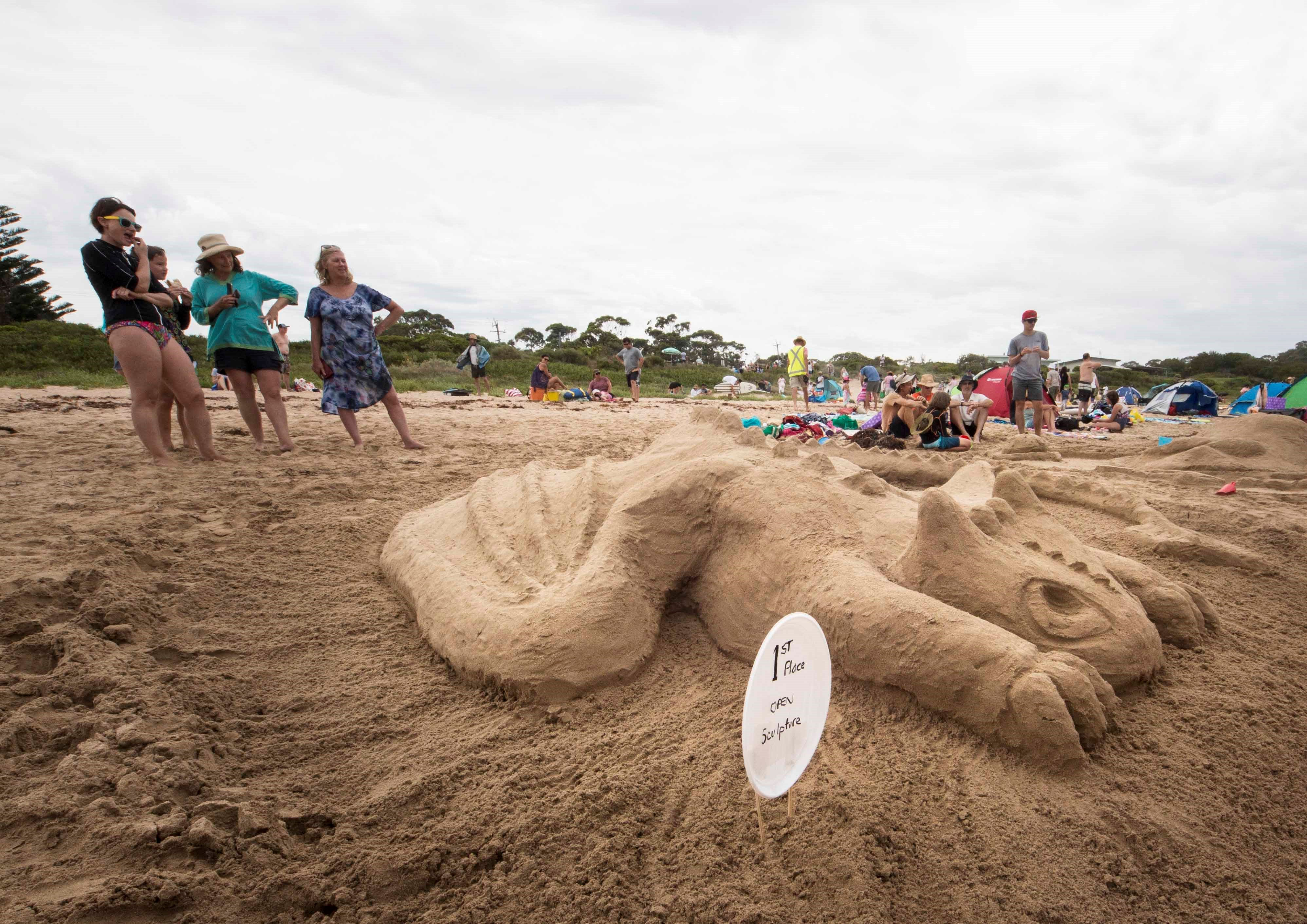 Broulee New Year's Eve Sandcastles and Sculptures - Surfers Gold Coast