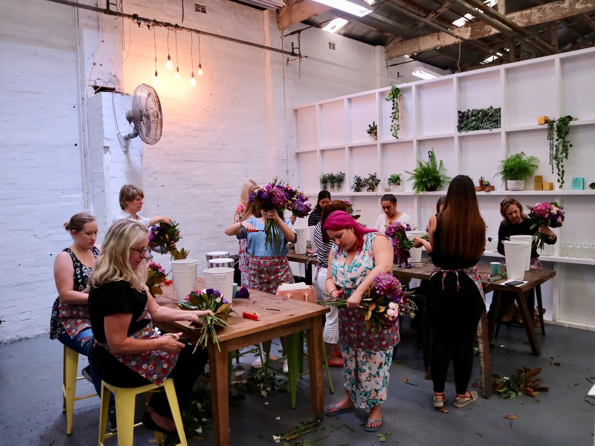 Fun Floral workshops for beginners - Surfers Gold Coast