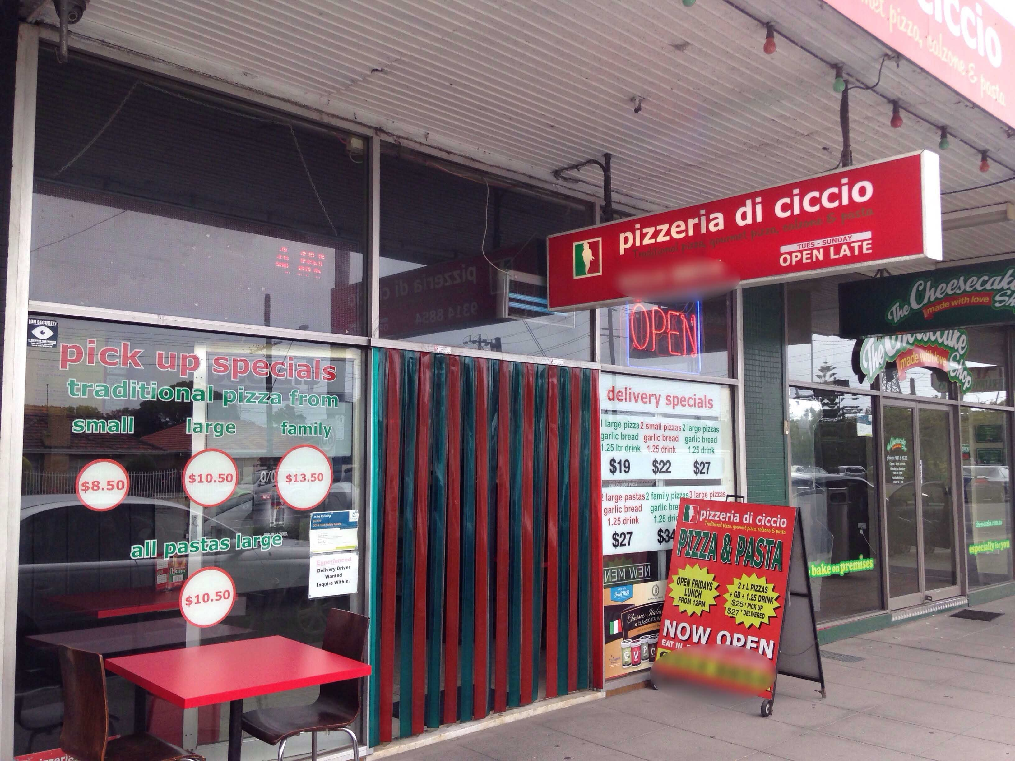 Pizzeria di Ciccio - Surfers Gold Coast