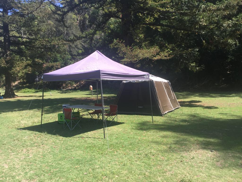 Basin Ku-ring-gai Campsite Set Up - Surfers Gold Coast